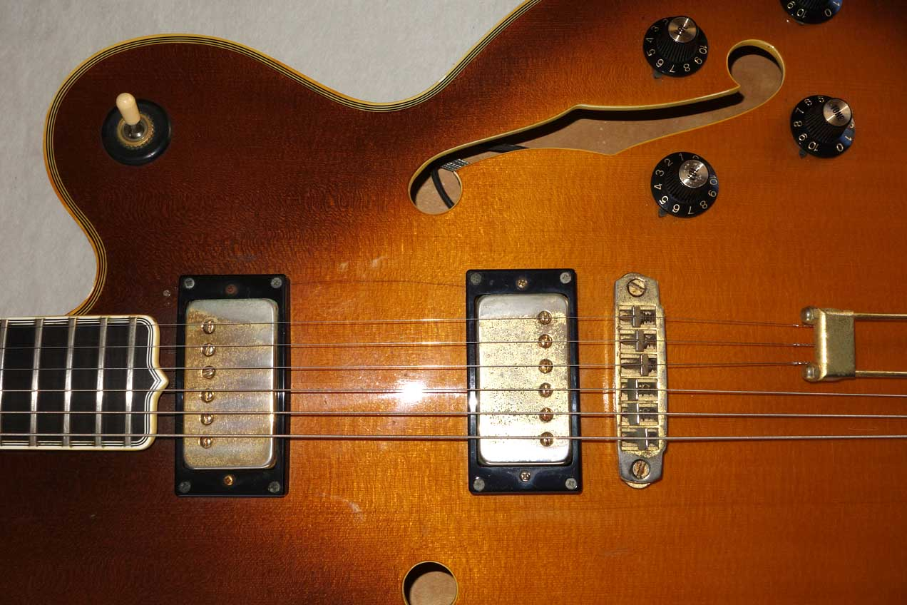 Vintage 1980 BRADLEY / Epiphone Emperor T Thinline, Semi-Hollow Body Guitar w/Case, MIJ Matsumoku, All Original