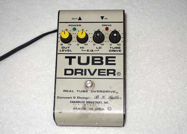 Chandler  TUBE DRIVER Concept and Design By B. K. Butler Original Real Tube Overdrive w/ Mesa 12AX7 Tube