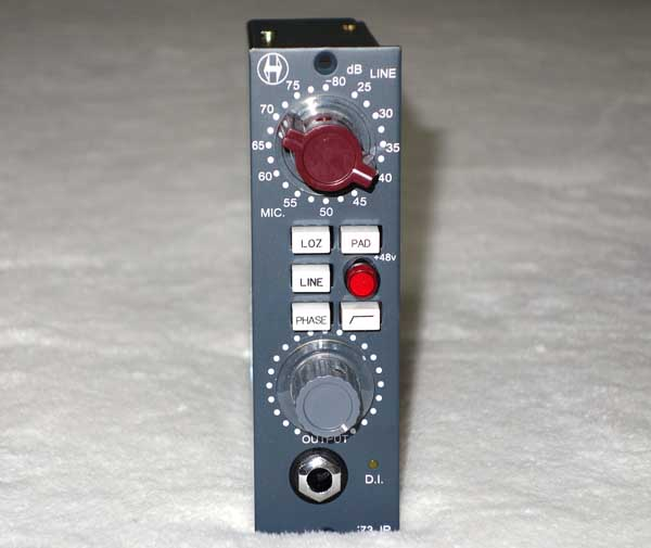 NEW Heritage Audio '73 JR -- A 3-Stage, Class-A, Neve 1073-Replica Mic Preamp / DI